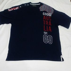 Coogi Men's XXL Tee Navy Blue With Coogi Kangaroo